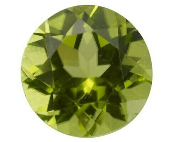 Machine-Cut 3.5mm Peridot Faceted Stone, AA-Grade, Sold By each   90035