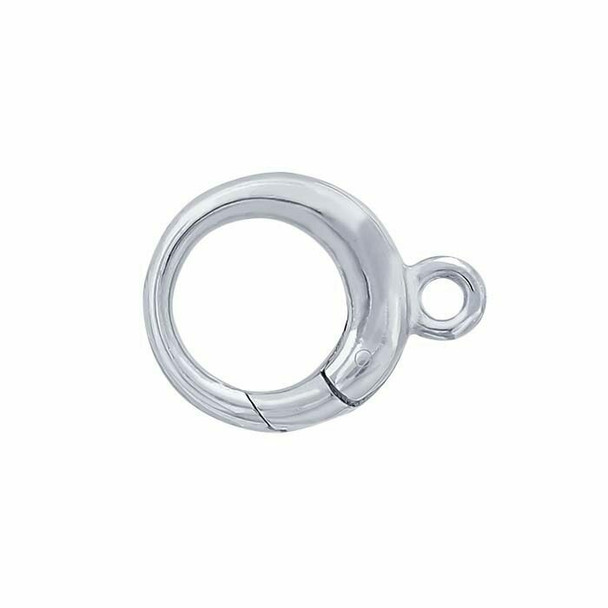925 Sterling Silver Round Hinged Hook Clasp   Sold by Pc   614688