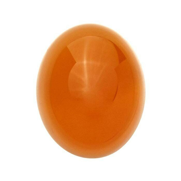 Orange Chalcedony 14 x 10mm Oval Cabochon, D |Sold by Each | 73675