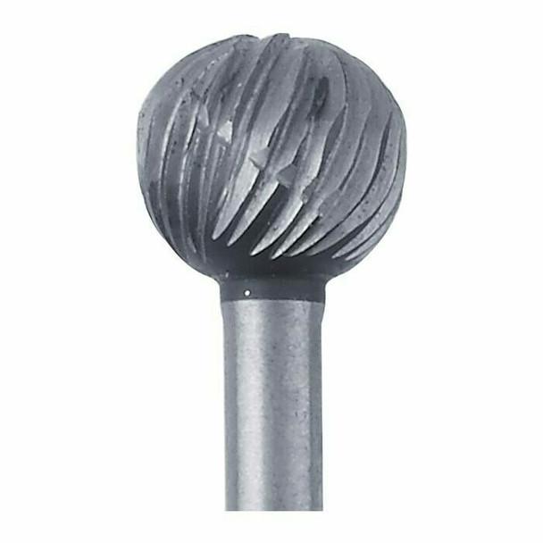 High-Speed Steel Round Bur, 6.3mm  Sold by Each  345526