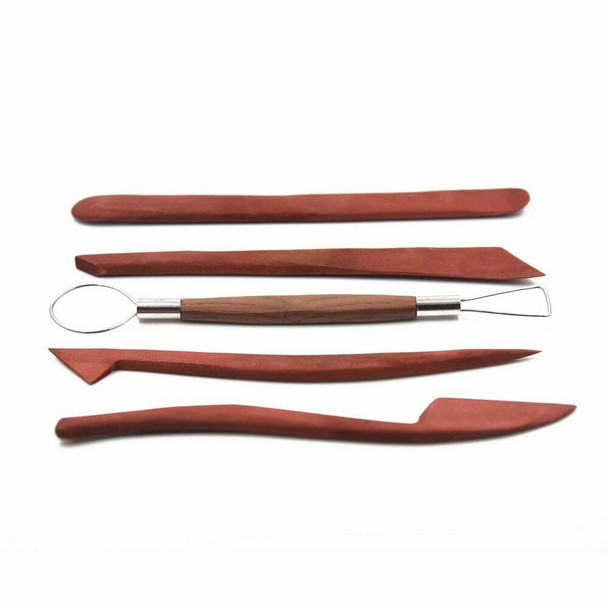 Hardwood Pottery Tool Set of 5   CD07S