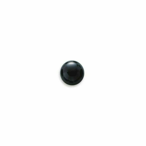 Black Onyx 8mm Round Calibrated Cabochon Sold By each   78089