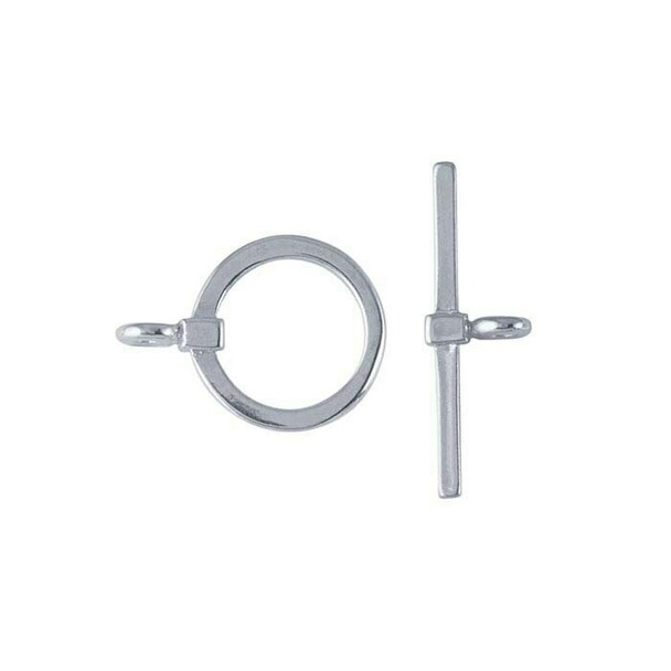 Sterling Silver Square-Wire Toggle Clasp | Sold by Pc | 690570