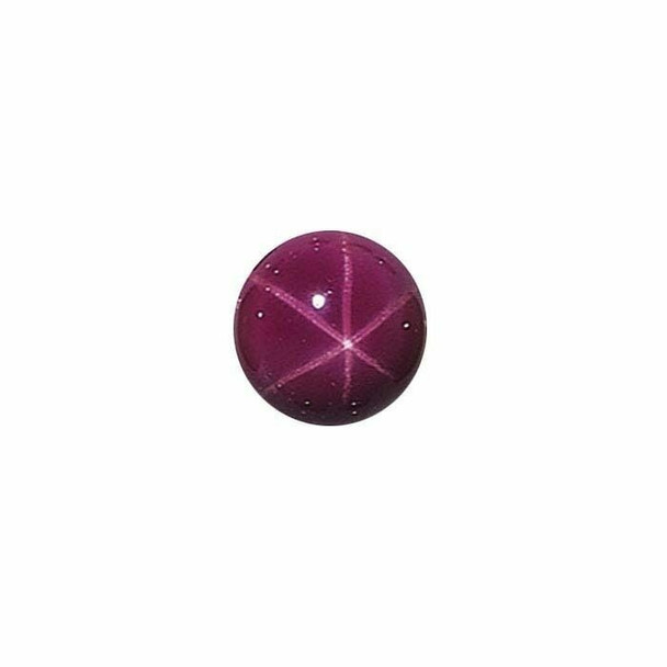 Lab-Created Star Ruby 8mm Round Cabochon | Sold by each | 68676