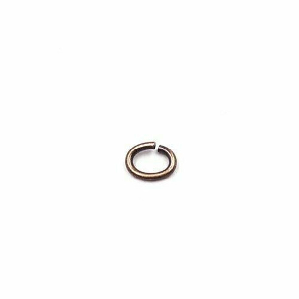 Brass Antique-Finish 4 x 3.5mm Oval Jump Ring |Sold by Each| Bulk Prc Avlb | 62805220