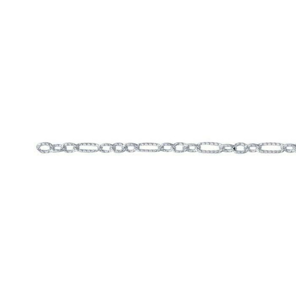 Sterling Silver Oxidized 2.8mm Patterned Oval Cable Chain | By the ft | Blk prc avbl |  615864B