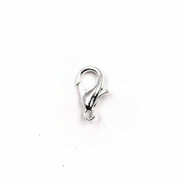 Base Metal Silver Finish Teardrop Lobster Clasp 7x14mm | Sold by Pc | XZ110
