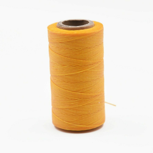 Nylon Cord Coated in Wax 1 mm | Yellow | Sold by Spool | NWS12