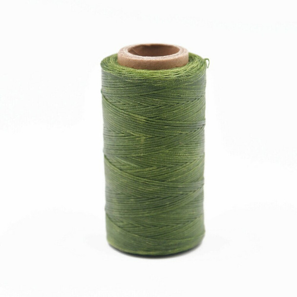 Nylon Cord Coated in Wax 1 mm   Olive   Sold by 220m Spool   NWS11