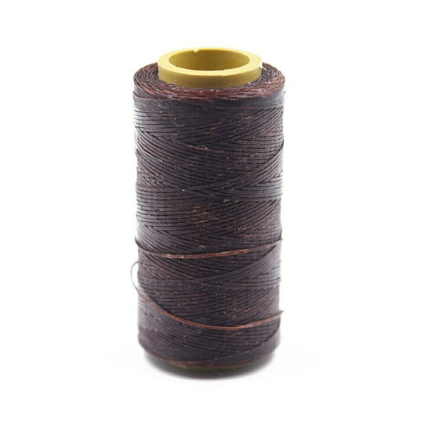 Nylon Cord Coated in Wax 1 mm | Dark Brown | Sold by Spool | NWS05