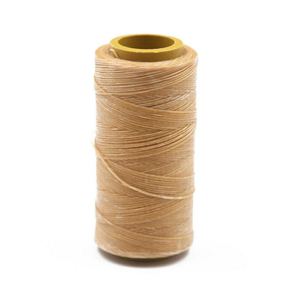 Nylon Cord Coated in Wax 1 mm   Caramel   Sold by Spool   NWS03