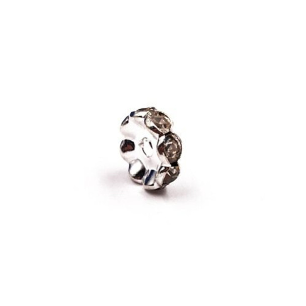 Base Metal Silver Finish Decorative Bead Spacers, 10mm | Sold by Each | XZ135S10