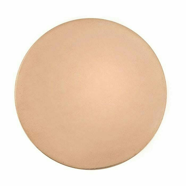 "18Ga Copper Disc | 1"" Round (25.4 mm) 