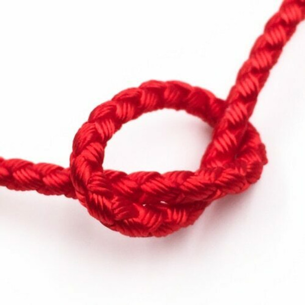 Dragon Braided Cord | 4 mm dia. | Red | Sold by Metre | CYM05