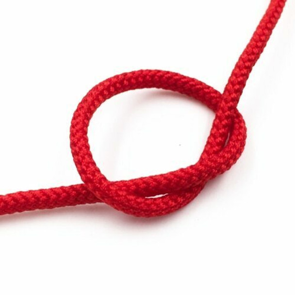 Braided Cord   4 mm dia.   Red   Sold by Metre   CYM37