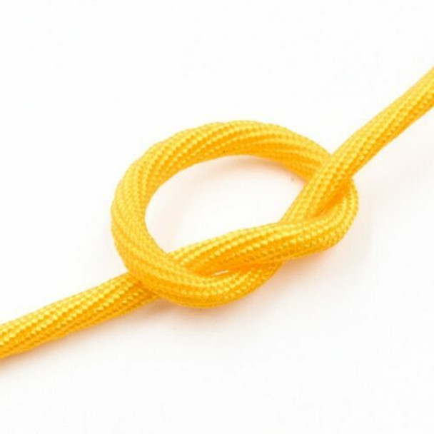 Plied Cord   4 mm Oval   Yellow   Sold by Metre   CYM47