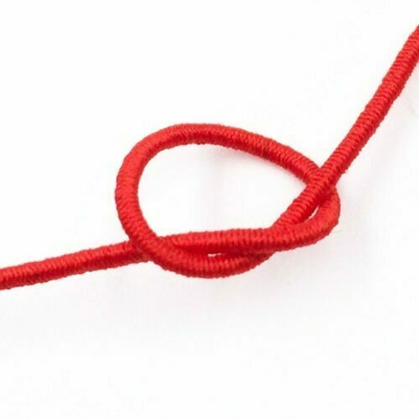 Elastic Cord | Red | 1.2 mm dia. | Sold by Metre | CYM119