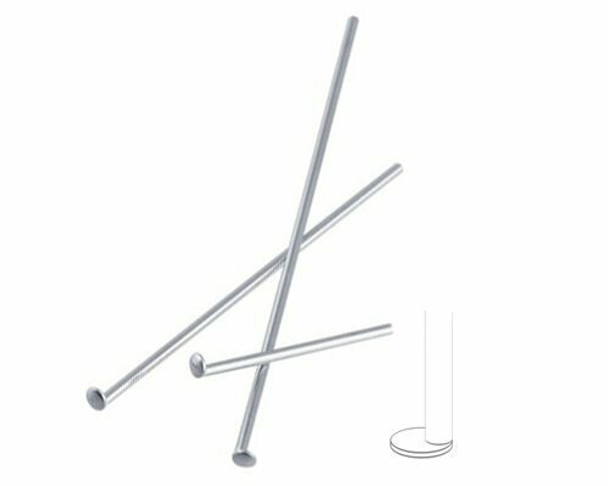 """Flat Head Pin   Nickle Finish 4.5cm (1-3/4"""")   Base Metal   Sold By  25pc   LKFHP4D5"""