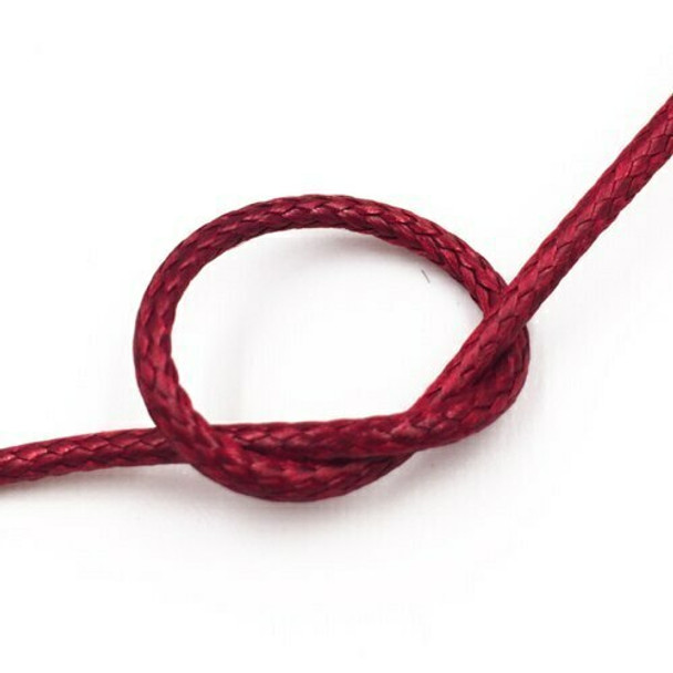 Glossy Braided Cord   2 mm dia.   Blood Red   Sold by Metre   CYM985