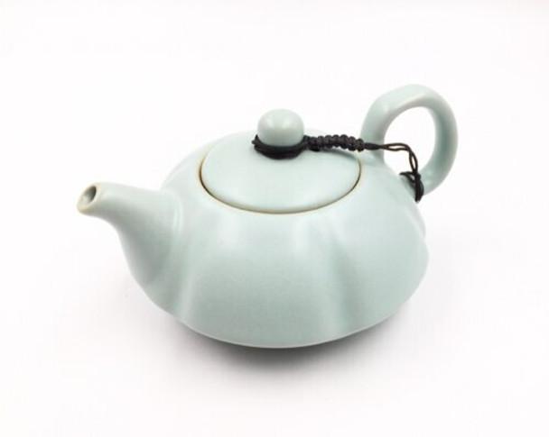Sky Blue Glazed Ceramic Teapot | XFJCR09