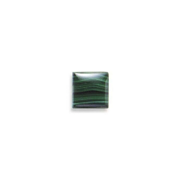 Square 12mm Malachite Cabochon Stone, Sold By Each | 87002