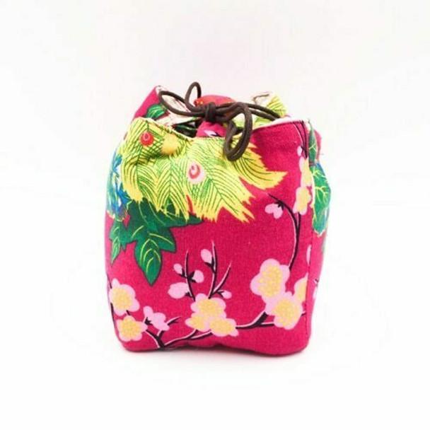 Floral Peacock Teaware Bag | Magenta | TF16