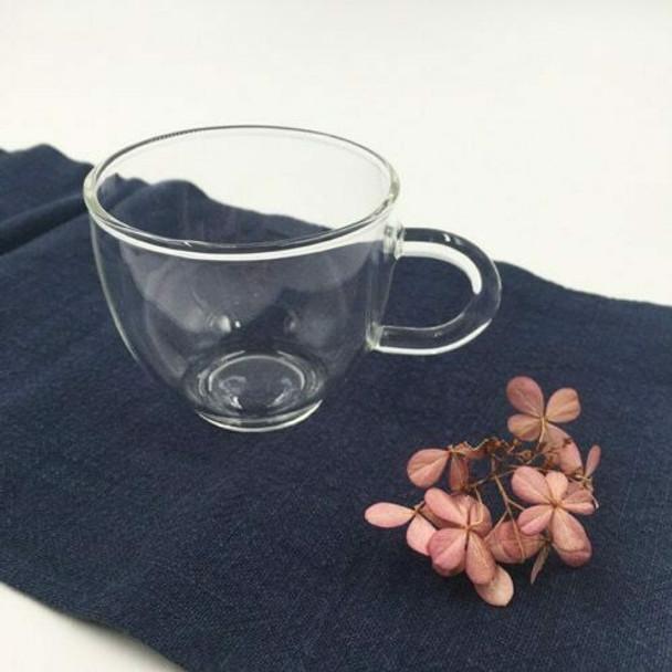 Round Glass Teacup   TWC42