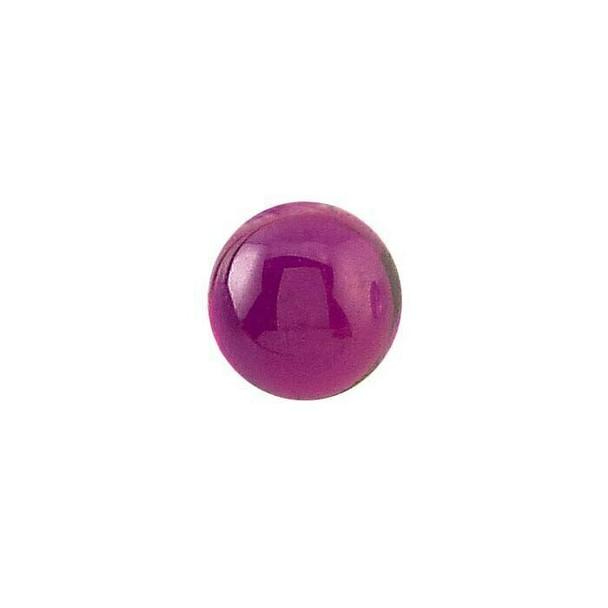 Lab Created Ruby 4mm Round Cabochon | 90205