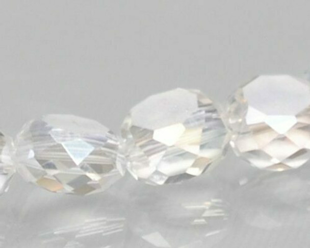 """Rondelle Side-hole Clear Crystal Beads 6x4mm   Sold by 1 Strand(10"""")   BS0150"""