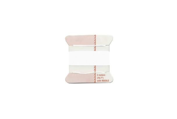 White Silk Beading Cord   Sizes 1-8   68.15