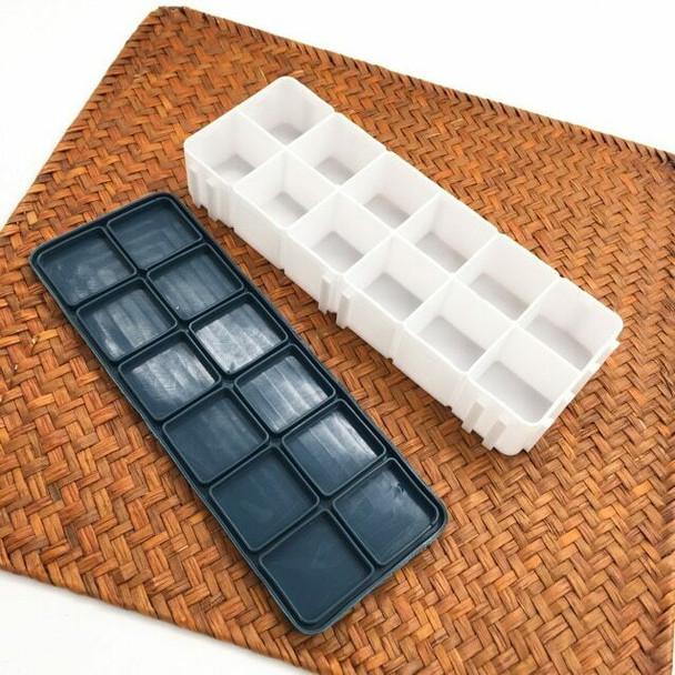 Color Box Rubber leakproof Lid 12 Grids | CGB012