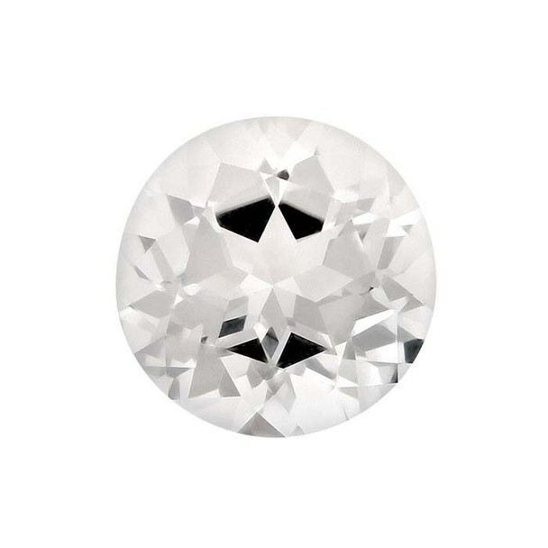 White Topaz 1mm Round Faceted Stone | WTPZ01