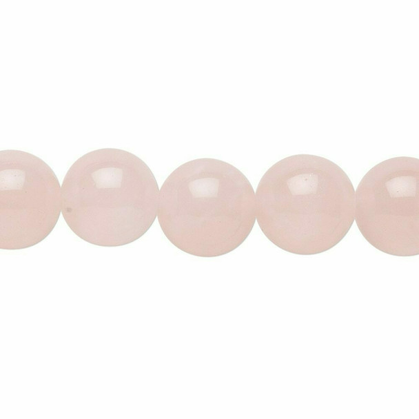 "Rose Quartz 10mm Round Beads | Sold by 7.5"" Strand 