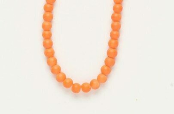 """Bead  rubber-coated glass opaque neon orange 