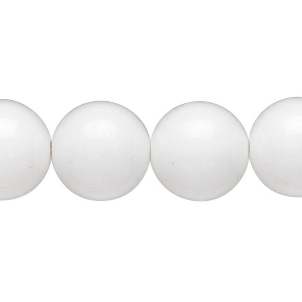 "White mountain ""jade"" (dolomite marble) (natural) beads 14mm 