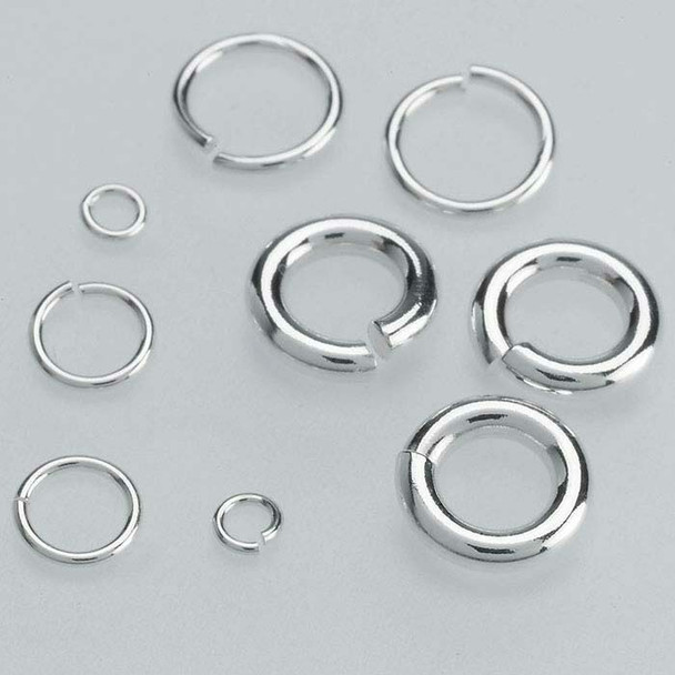 Sterling Silver 18ga Round Jump Ring | 7mm OD | 5mm ID | Bulk Prc Avlb | Sold by Each | 693057