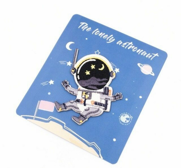 """""""Universe"""" Iron-on Embroidery Patch   Lonely Astronaut   EP008"""