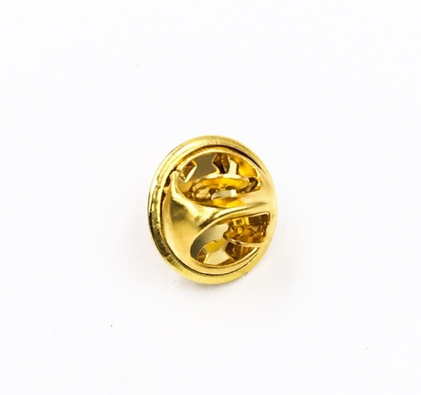 Base Metal Bright Gold Finish Tie Tac Clutch | with 4mm-pad Pin | Sold by Each | 661228BG