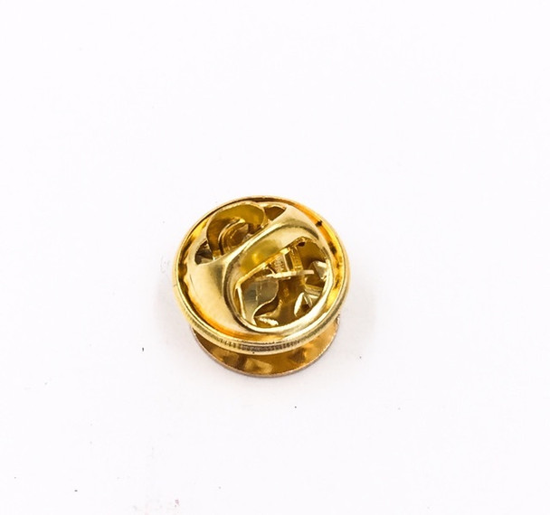 Base Metal Bright Gold Finish Tie Tac Clutch   with 10mm-pad Pin   Sold by Each   661229BG