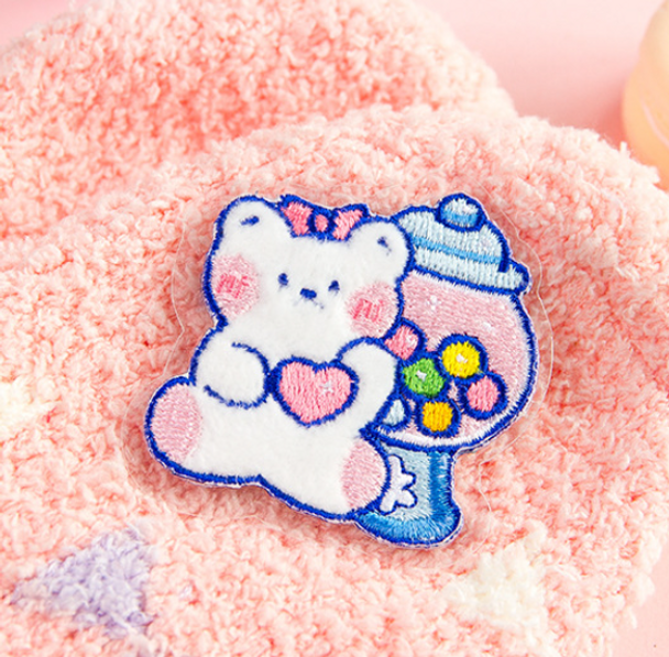 Little White Bear Embroidery Patch   10 Styles   H20201516-25