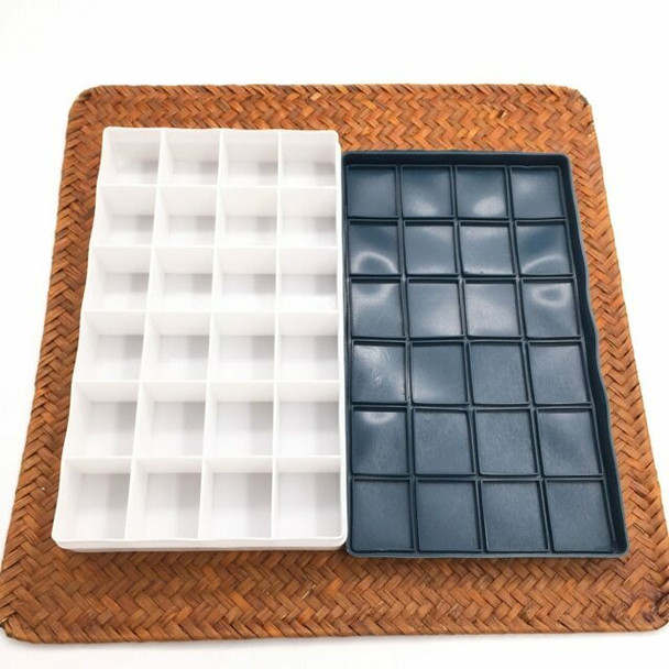 Color Box Rubber leakproof Lid 24 Grids Extra Depth | CGB024D