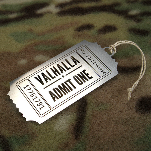 Valhalla Admit One Christmas Ornament