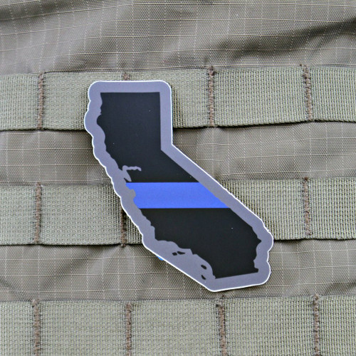Thin Blue Line California Sticker
