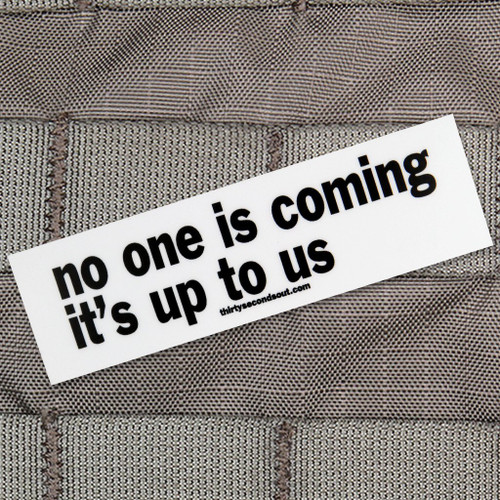 No One Is Coming Sticker