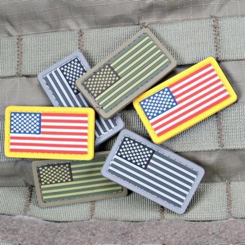 US Flag PVC Mini Morale Patch