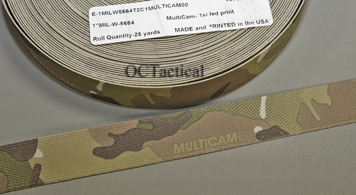 Mil Spec Mil-W-5664 Multicam Elastic Single Sided