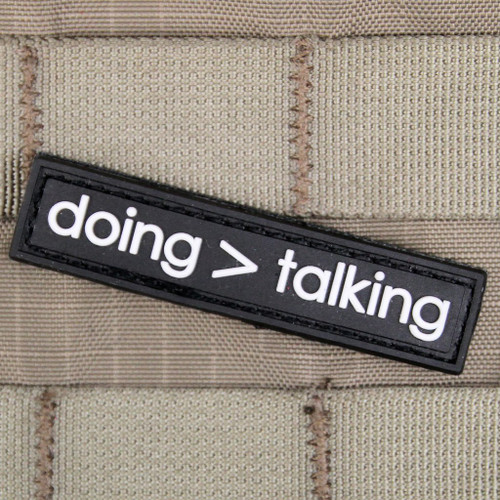 Doing is Greater Than Talking Morale Patch