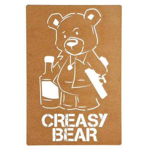 Huge Creasy Bear Stencil