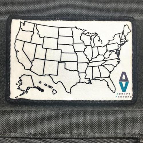 ADRIFT VENTURE US TRAVEL TRACKER MAP MORALE PATCH