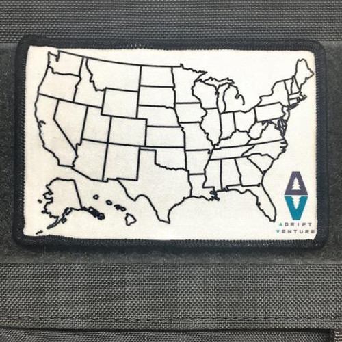 ADRIFT VENTURE US TRAVEL TRACKER MAP MORALE PATCH